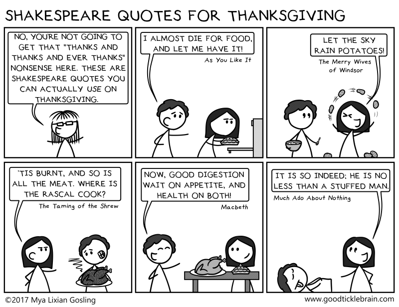 Shakespeare Quotes For Thanksgiving — Good Tickle Brain